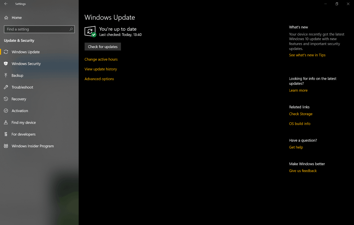 Windows 10 Oct.2018 Update