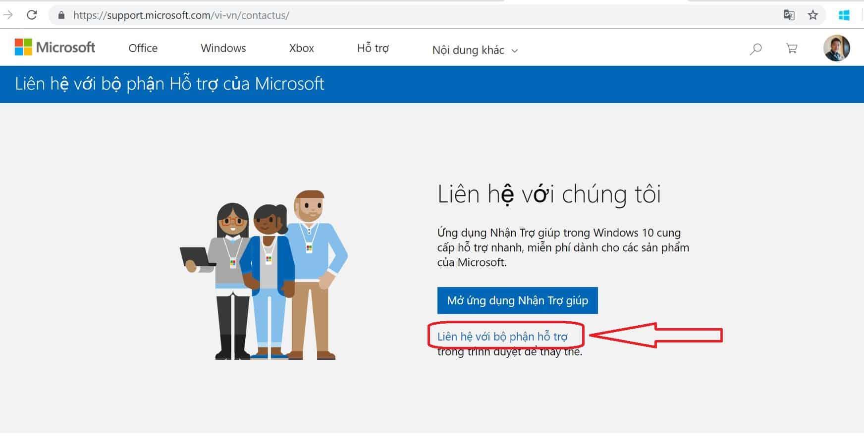 Microsoft Ho tro