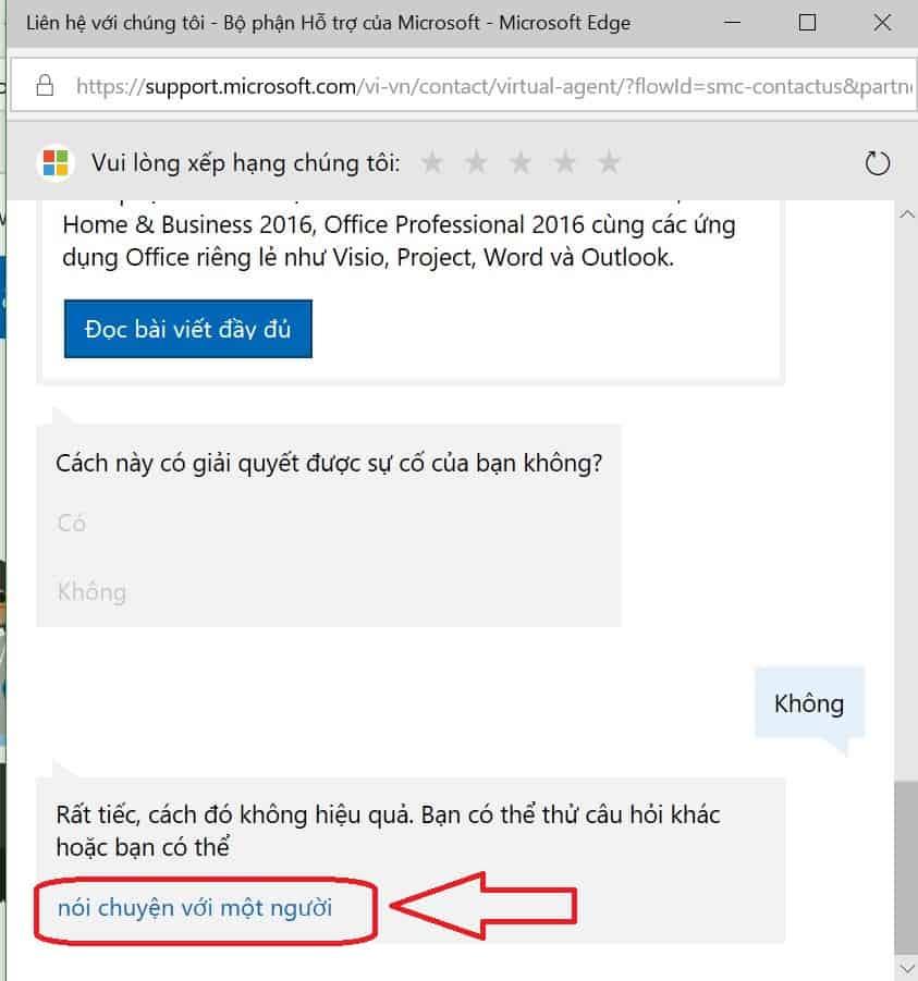 Hỗ trợ Microsoft