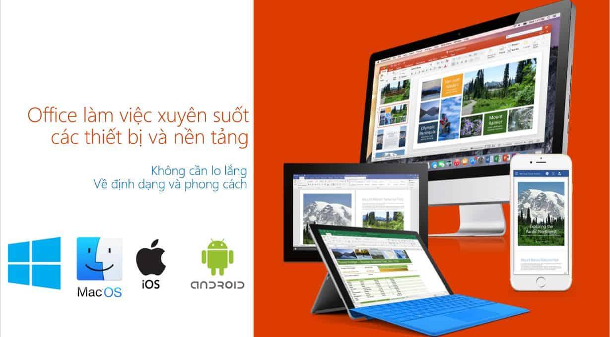 Su dung Office 365 tren tat ca nen tang thiet bi