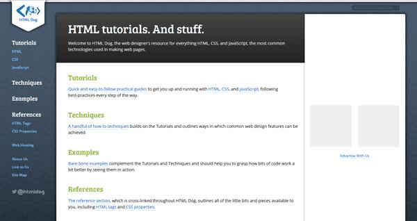 HTMLDog.com Web học lập trình online
