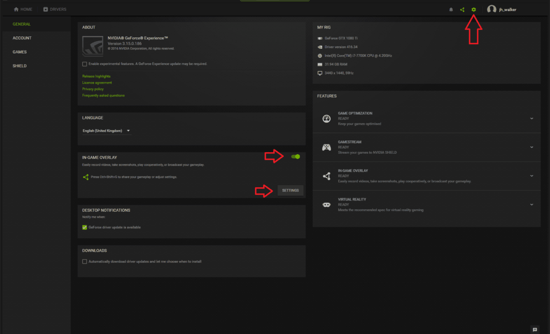 Ghi lại màn hình trên card Nvidia