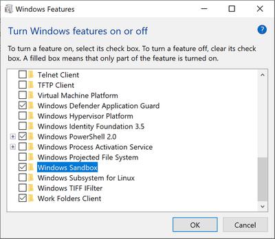Cài đặt Windows Sandbox