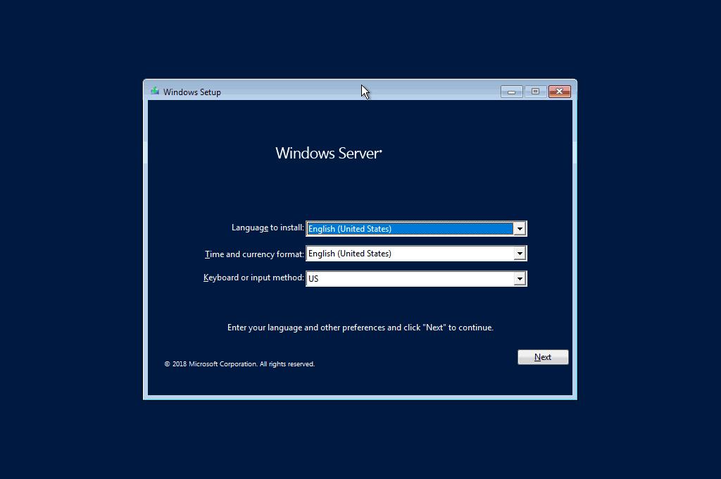 Cài đặt Windows Server 2019