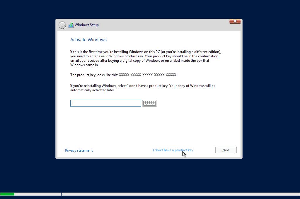 Kích hoạt Windows Server 2019