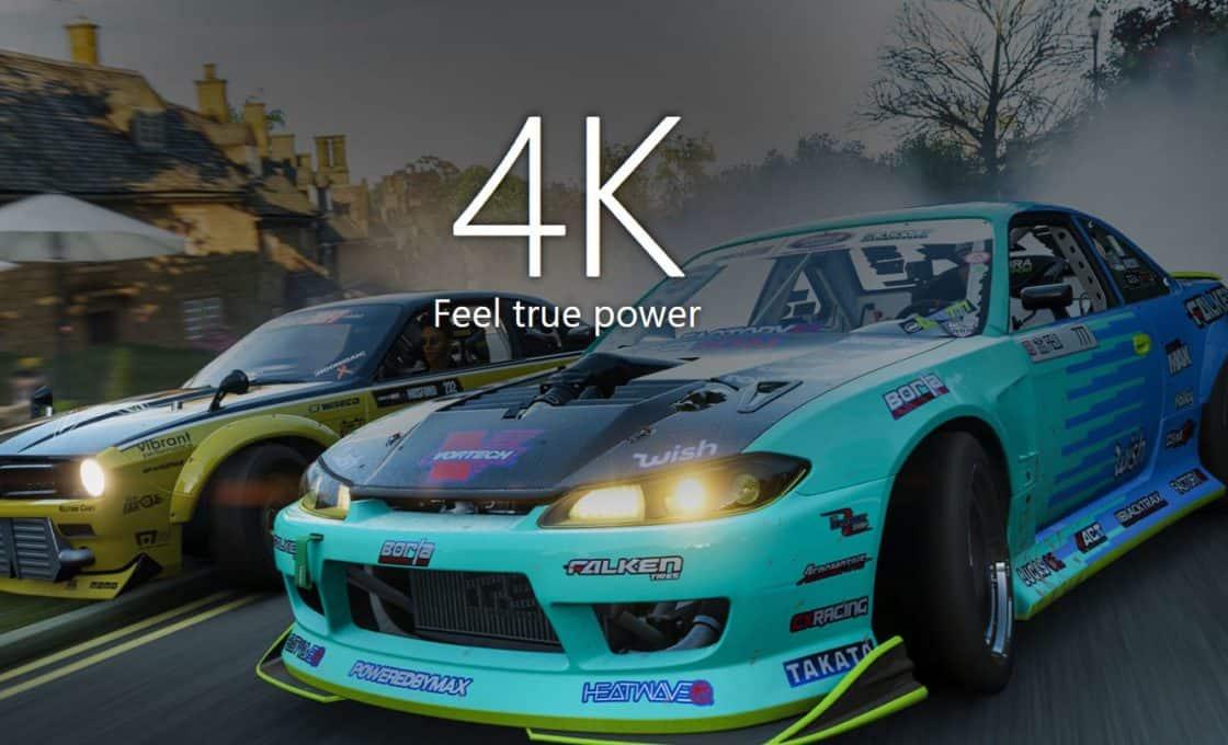 Chơi game 4K trên Xbox One X