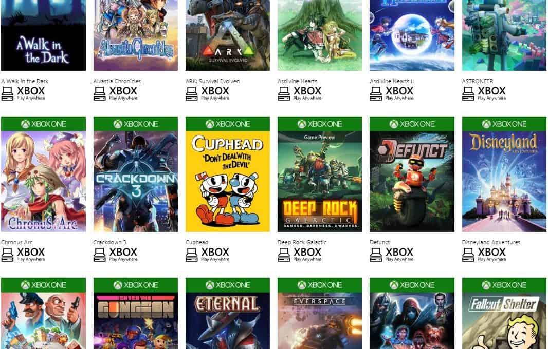 Các tựa game Xbox Play AnyWhere liên tục được cập nhật