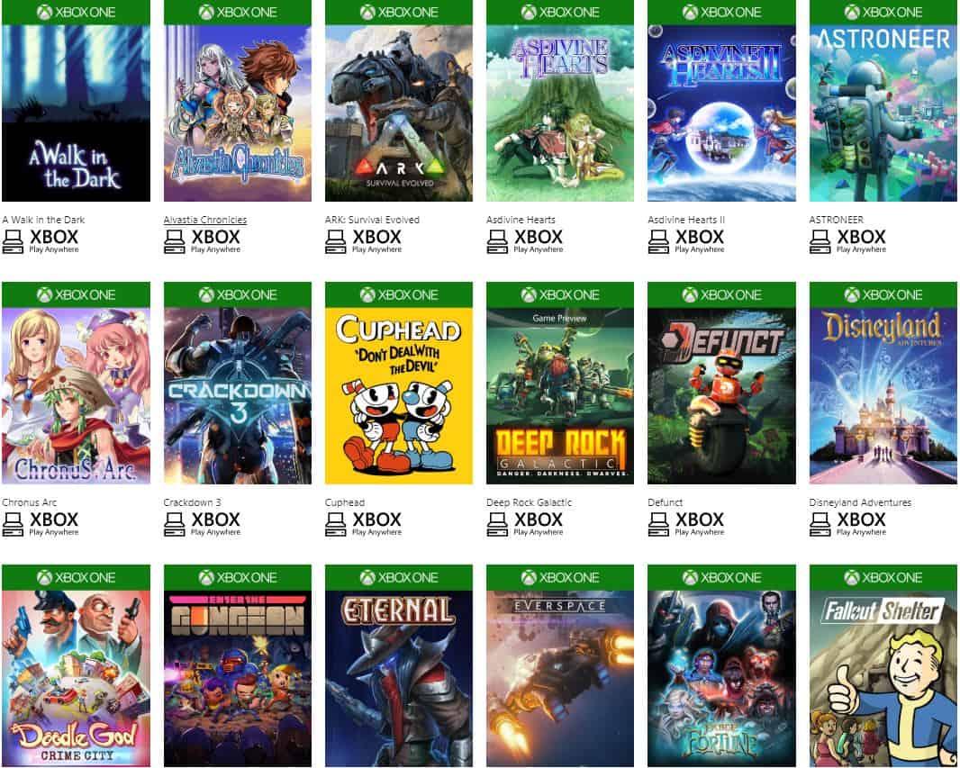 Đa dạng Game Xbox Play AnyWhere