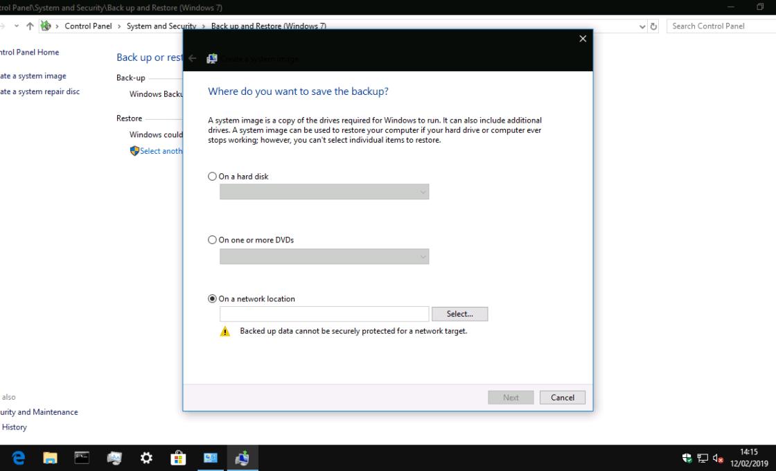 Sao lưu Windows 10