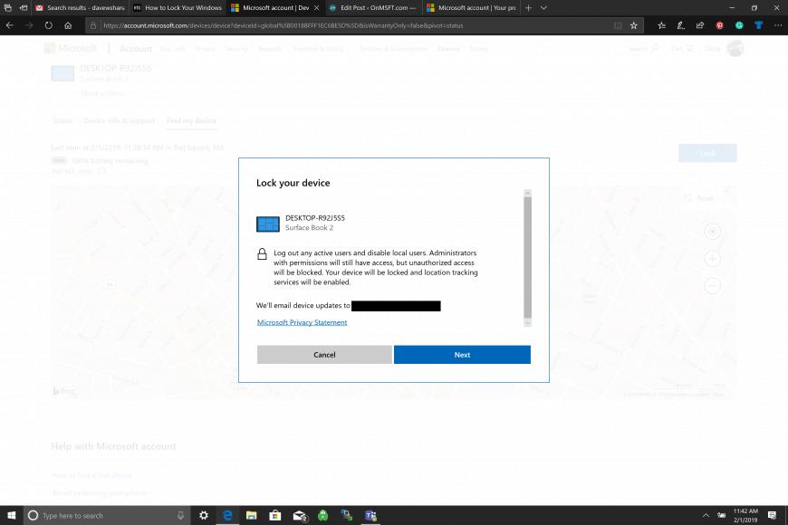 Khóa máy tính Windows 10 từ xa
