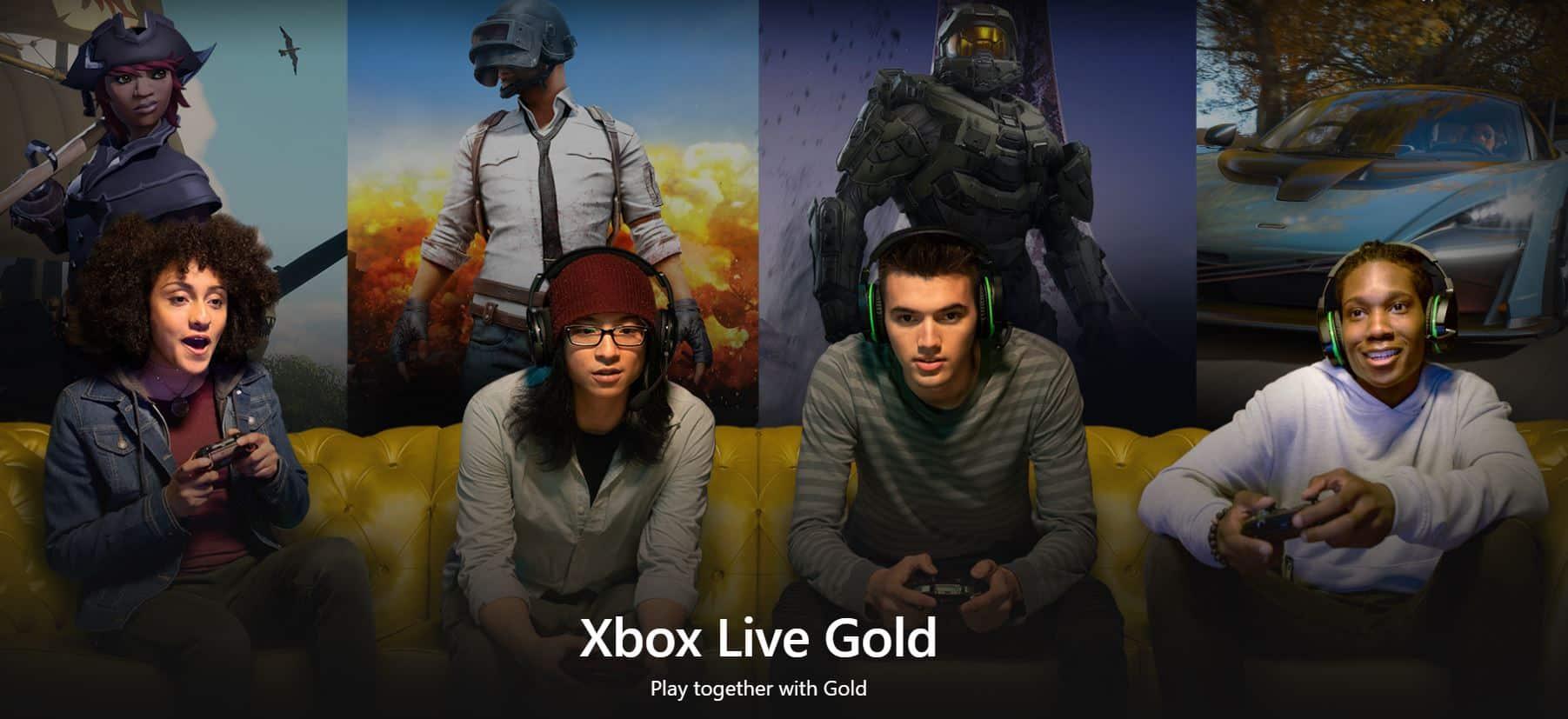 Chơi game cùng Xbox Live Gold
