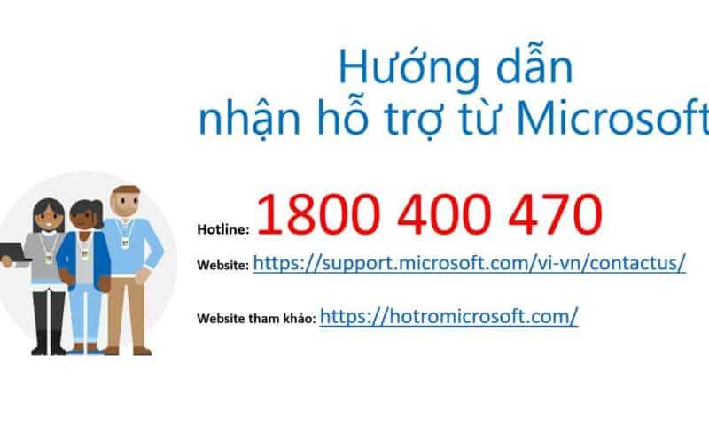 Liên hệ Microsoft nhận hỗ trợ dành cho khách hàng và đối tác