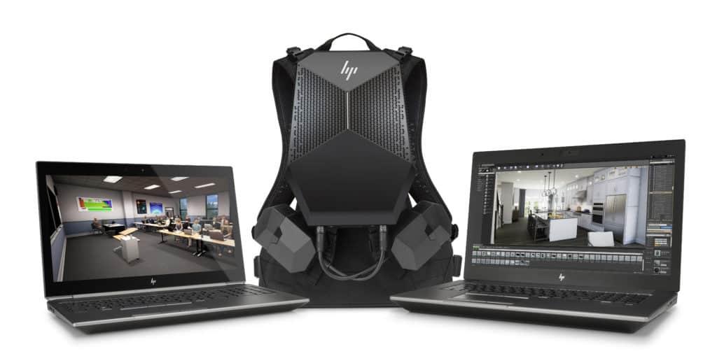 Bộ đôi khủng Zbook cùng balo VR thực tế ảo