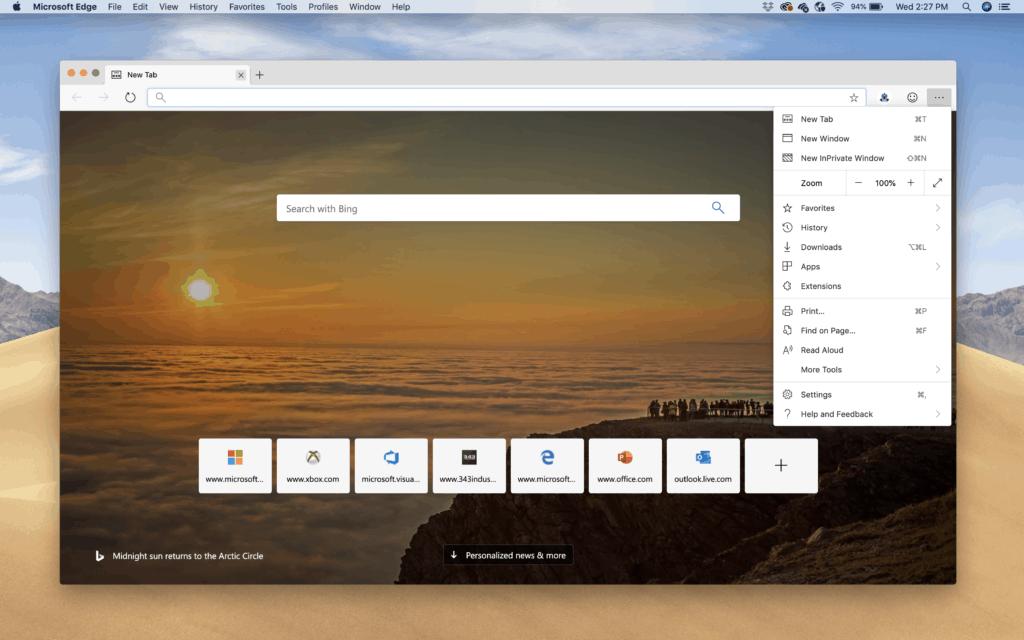 Microsoft Edge dành cho macOS