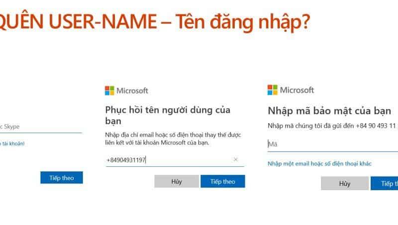 Khôi phục tài khoản Microsoft như thế nào?