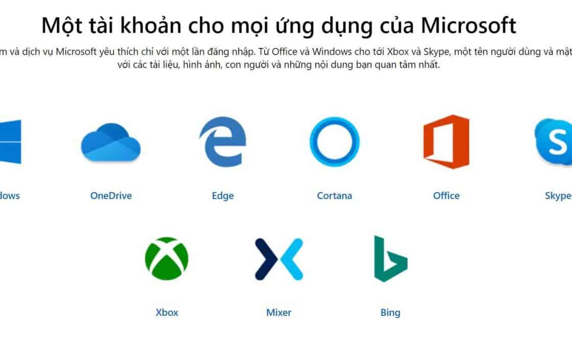 Tai khoan Microsoft