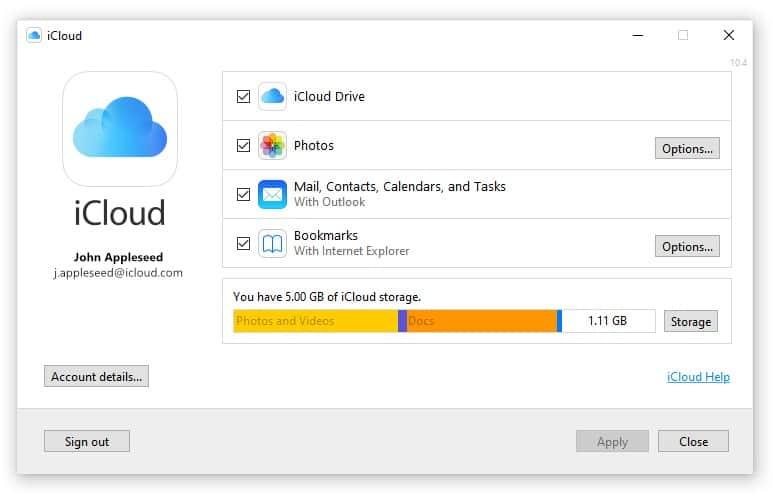 Lựa chọn đồng bộ những gì bạn cần trên máy tính Windows qua ứng dụng iCloud