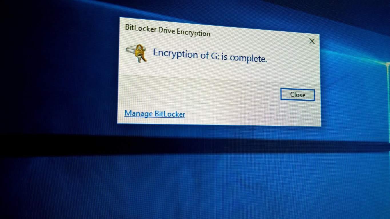 Bitlocker tích hợp trên Windows 10