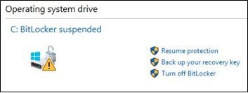 Khởi động lại dịch vụ BitLocker