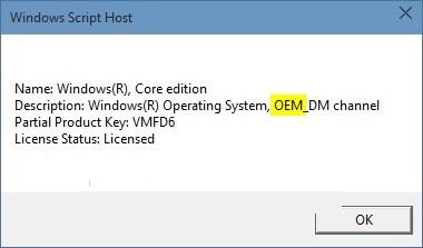 Kiểm tra bản quyền Windows