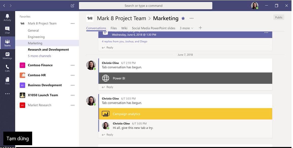 Hướng dẫn sử dụng Microsoft Teams