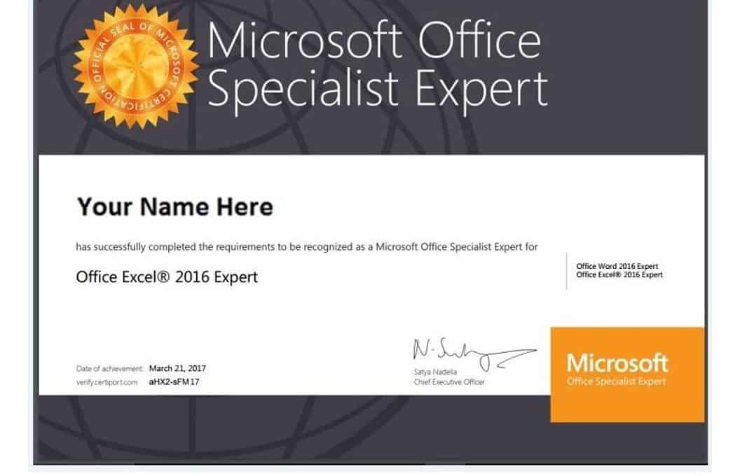 Chứng chỉ MOS - Microsoft Office Specialist