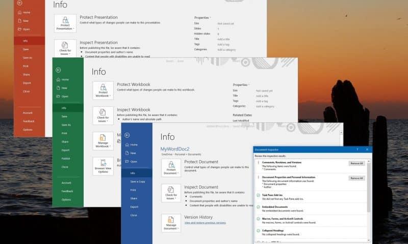 Xóa nội dung ẩn trong Word Excel PowerPoint và thông tin cá nhân