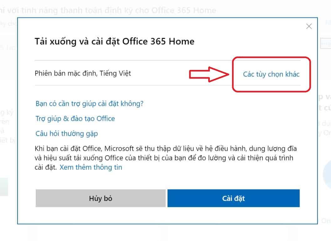Chọn: Các tùy chọn khác để tải bộ cài đặt Offline Installer