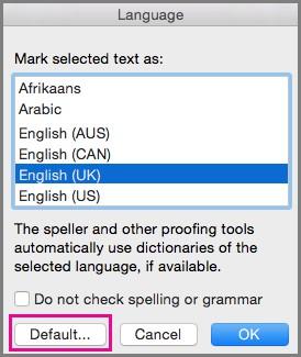 Cài đặt ngôn ngữ Office trên mac