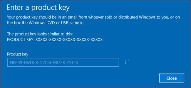Key Windows 10