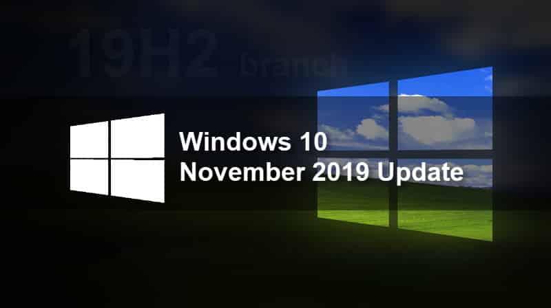 Windows 10 Update Nov 2019