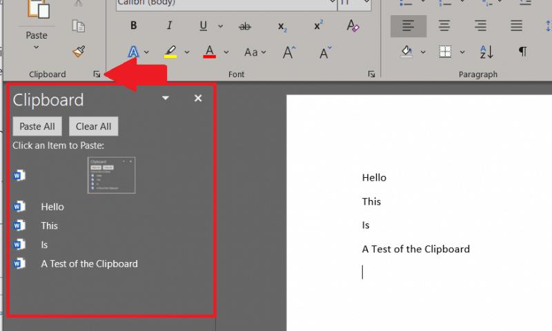 Sử dụng Office Clipboard trên Office 365