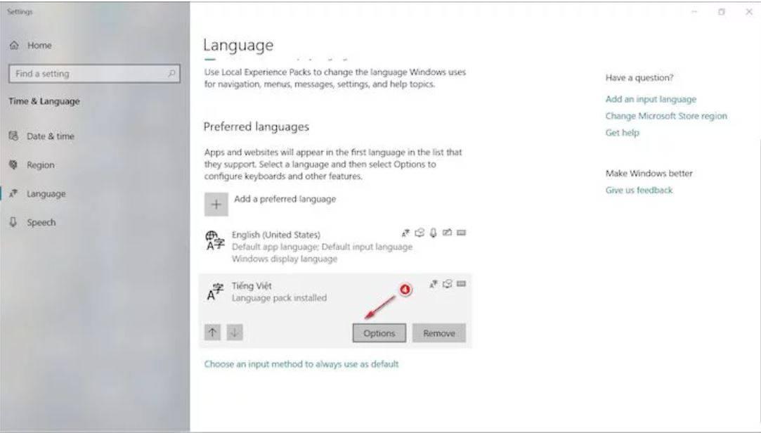 Gõ Telex trên Windows 10