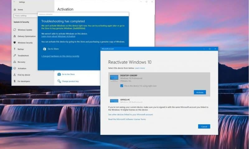 Kích hoạt lại Windows 10 sau khi thay đổi phần cứng