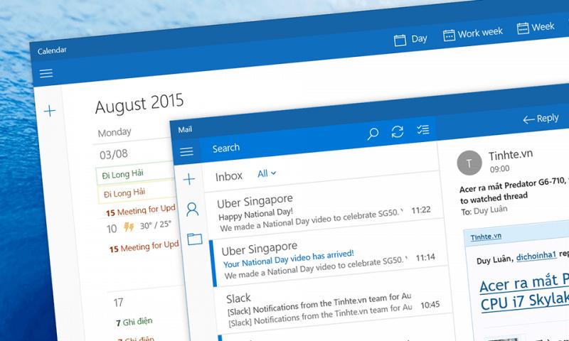 Quản lý email với Mail app trên Windows 10 sẵn có