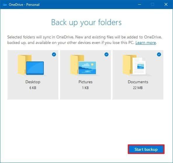 Sao lưu dữ liệu OneDrive