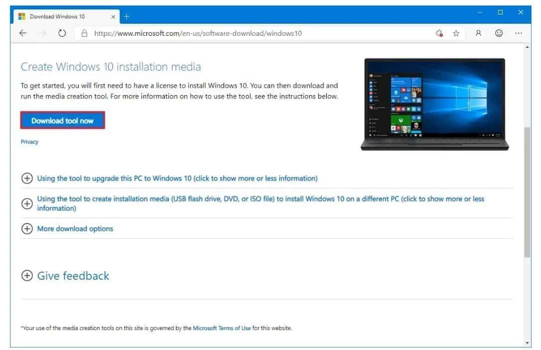 Tải ISO Windows 10