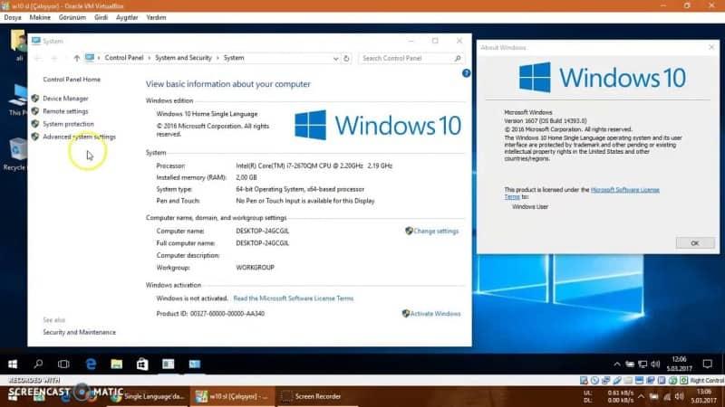 Windows 10 Single Language