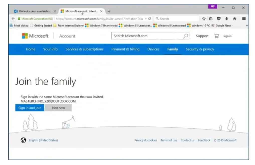 Family Safety trên Windows