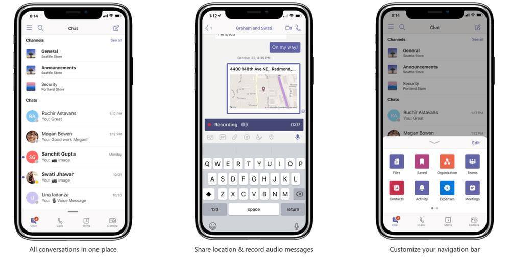 Teams trên iOS và Android