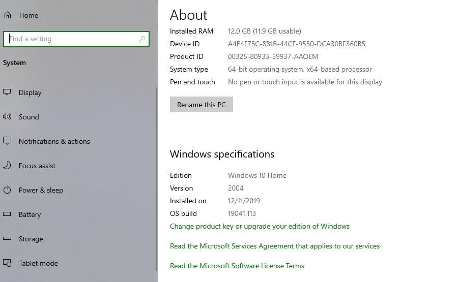 Windows 10 Apr 2020 Update