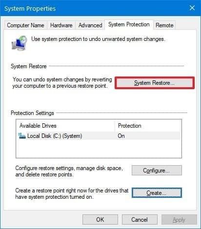 Khôi phục Windows 10