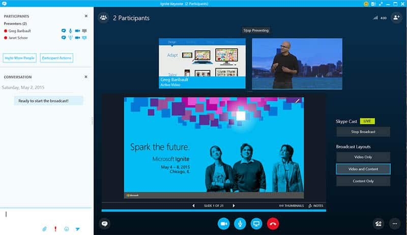 Chia sẻ màn hình trong  Skype trên Windows 10