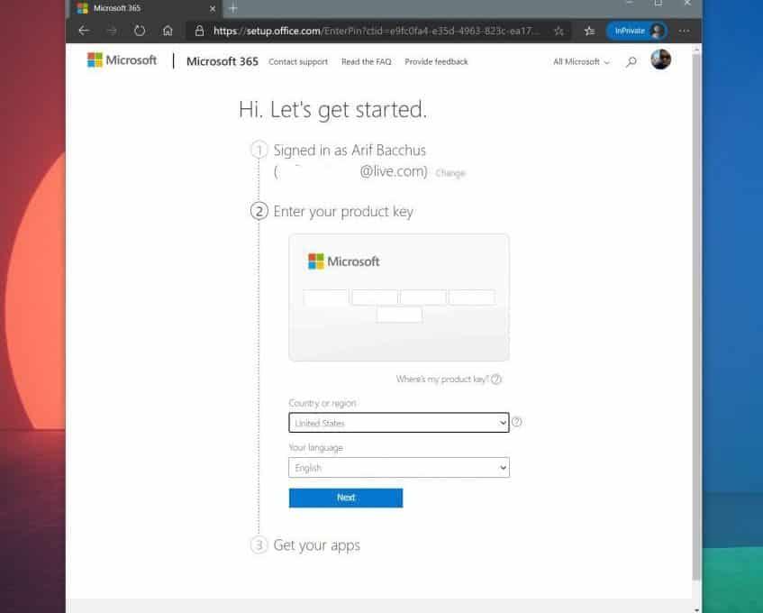 Kích hoạt Microsoft 365