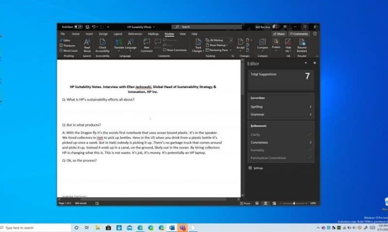 Trải nghiệm Microsoft Editor trên Word: Ngữ pháp, chính tả và hơn thế nữa