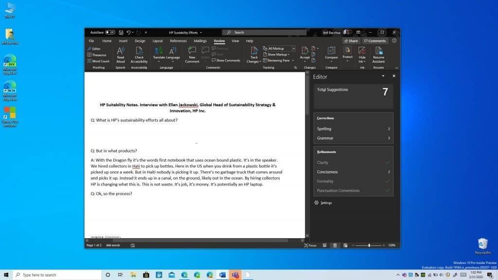 Microsoft Editor moi