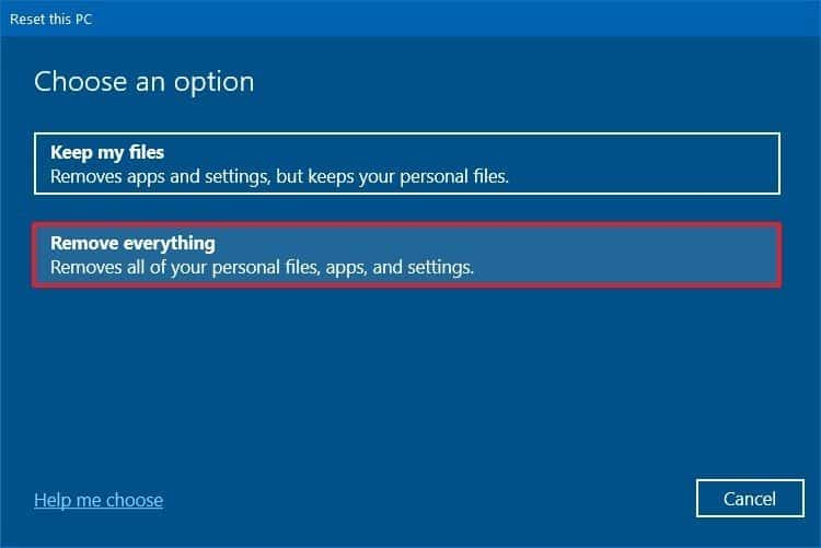 Cloud Reset khôi phục lại máy tính