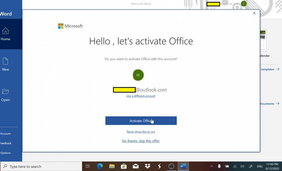 Kích hoạt Office đi kèm laptop