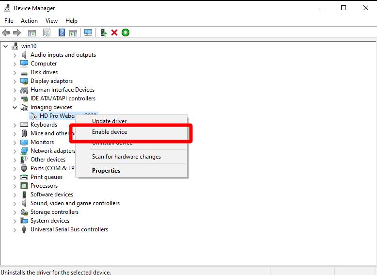 Lỗi webcam trên Windows