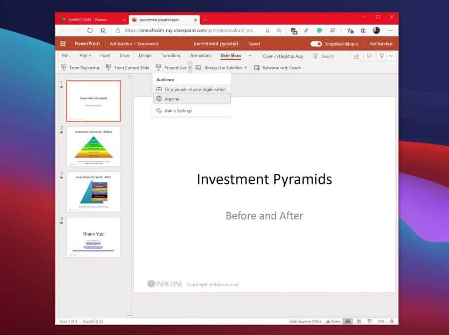 Hướng dẫn PowerPoint Live